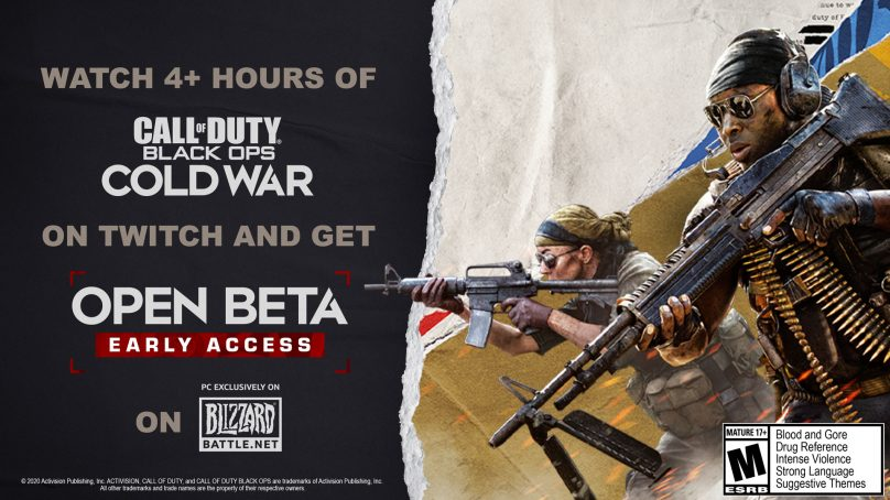 CALL OF DUTY®: BLACK OPS COLD WAR BETA PC, TWITCH DROPS